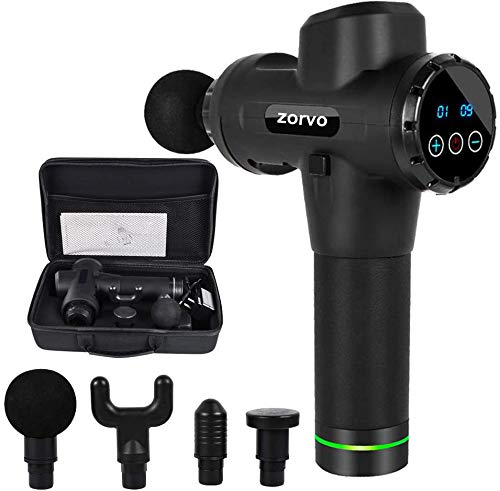 zorvo [Sale] Muscle Massage Gun Deep Tissue ,Cordless Massager Gun for Athletes,Percussion Massager for Neck and Back and Full Body -20 Speeds Ultra Quiet for Pain Relief ,with Carry Case