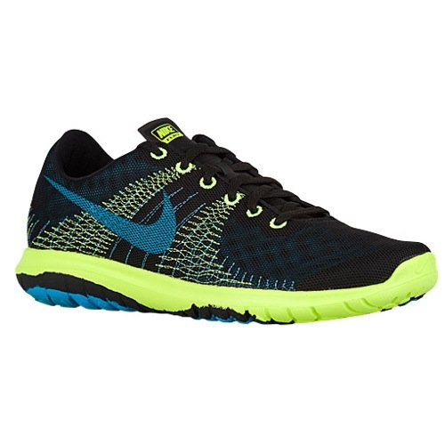 3c69f51722 Galleon - Nike Men's Flex Fury Running Shoes (12.5 D(M) US, Black/Volt/Stratus  Blue/Blue Lagoon)