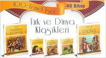 100 Temel Eser Türk Ve Dünya Klasikleri Kutulu 40 Kitap Anonim