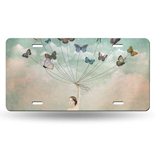 NLXZD Butterfly Bride Novelty License Plate American Vehicle License Plate