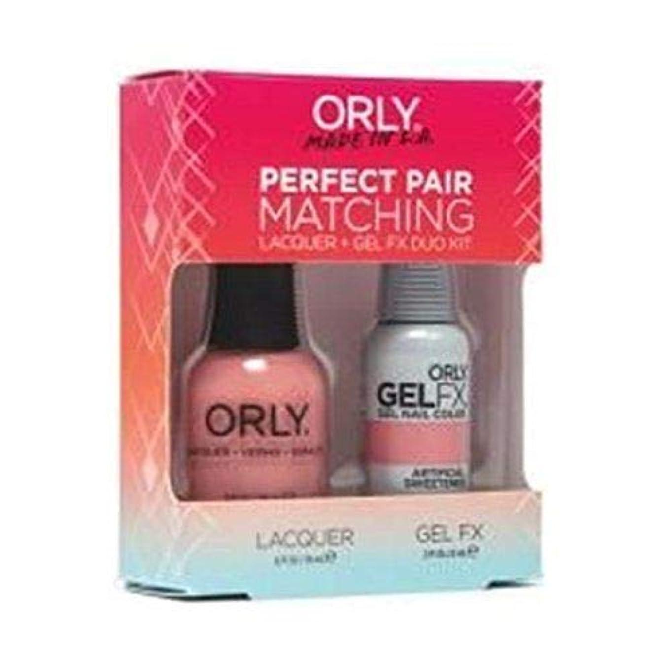 バーベキュー現像キャベツOrly - Perfect Pair Matching Lacquer+Gel FX Kit - Artificial Sweetener - 0.6 oz / 0.3 oz