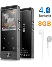 "MP3 Player, BENJIE HIFI Bluetooth Digital Audio Player 1.8"" TFT Screen & Speaker 8G SD Card 128G 70STD Playback Voice Recording FM Radio Recorder E-Book Reader"