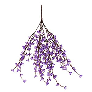 Fityle 37cm Artificial Flower Spring Plum Blossom Branch Flower Bouquets Flower Bud for Wedding Party Decors 59