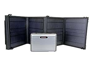 "LB1 High Performance PB160 Solar Generator Kit w/ 28 Watt Solar Panel Charger for Toshiba Satellite P755-S5396 15.6"" Laptop (Intel Core i7-2670QM processor) - Silver"