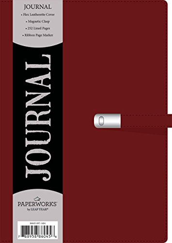 Leatherette Journal (Paperworks Leatherette Journal with Magnetic Clasp, 192 Lined Pages, Assorted Colors, Color May Vary (86045))