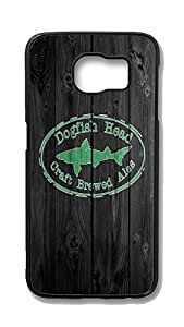 Samsung Galaxy S6 Edge Case,Wood stripe Series Customize Ultra Slim Wood Dogfishgreen Hard Plastic PC Blcak Print Case Bumper Cover for S6