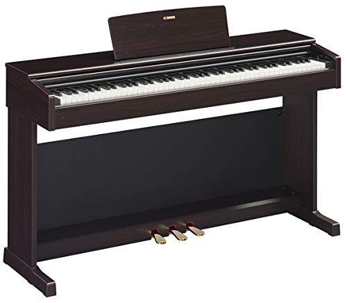 Yamaha Arius YDP-144 Traditional Console Digital Piano - Rosewood Bundle with Furniture Bench, Headphones, Fast Track Music Book, Online Lessons, Austin Bazaar Instructional DVD, and Polishing Cloth by Yamaha (Image #3)