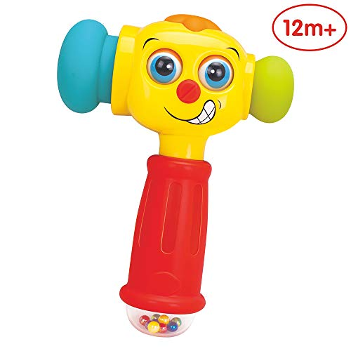 ANIKI TOYS 1 Year Old Baby Toddler Toy, Fun Electric Music Sound Play Hammer Educational Striking Toy
