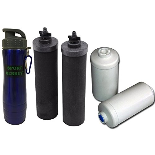 Travel berkey drinking water filtration system w 2 black for Water feature filter system