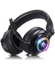 Headset gamer fone de ouvido usb com microfone Adamantiun Heimdall V2 pc ps4 ps5 ps3 notebook com adaptador type c celular