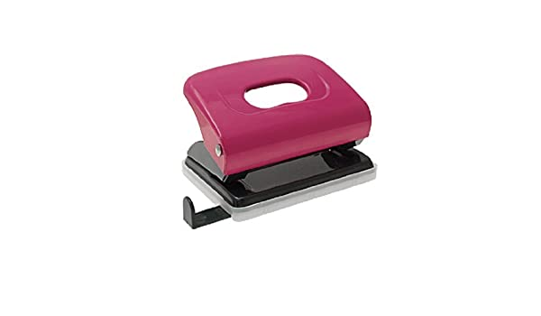 Amazon.com : DealMux Two 2 Furos material de escritório metal papel perfurador Fuchsia : Office Products