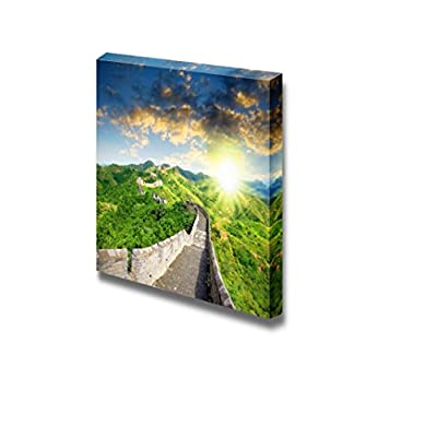 Canvas Prints Wall Art - Famous Landmark Great Wall of China at Sunset Time | Modern Home Deoration/Wall Art Giclee Printing Wrapped Canvas Art Ready to Hang - 12