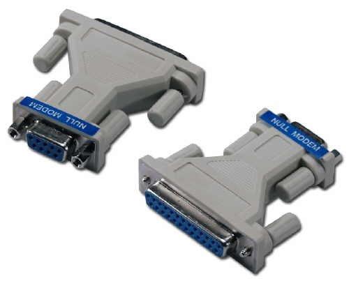 (QVS DB9 Female to DB25 Female RS232 Serial Null Modem Adapter)
