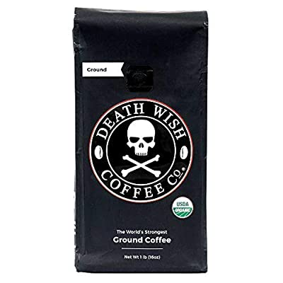 Death Wish Ground Coffee, The World's Strongest Coffee, Fair Trade and USDA Certified Organic from Death Wish Coffee Co.
