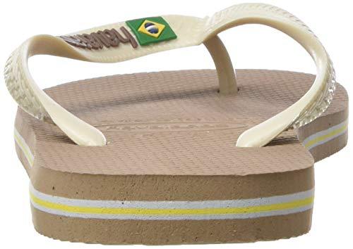 Brasil Logo Adulto beige 6842 Gold Unisex rose Havaianas Infradito 5dnqIv