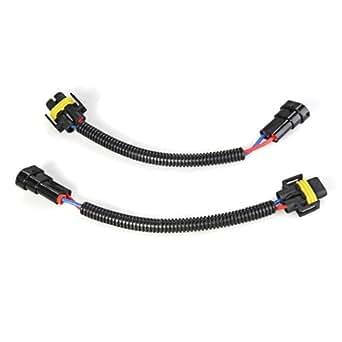 hisenook 2 piece h8  h9  h11 extension adapter wiring