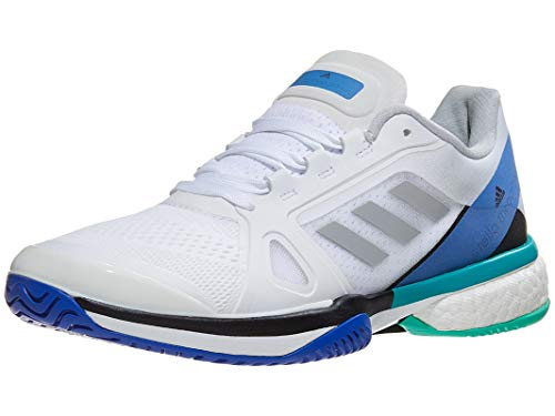- adidas aSMC Barricade Boost Shoe - Women's Tennis 5 White/Stone/Ray Blue