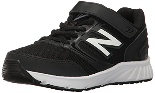 Image of the New Balance Boys' 455 Running Shoe, Black/White, 1 W Little Kid