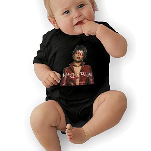 JosephG Newborn Baby Mary J Blige No More Drama Romper Bodysuit Outfits Black 2T -