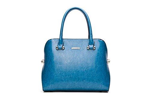 Winter-QCKJ Lorenz-Borsa a tracolla da donna in stile europeo, colore: blu