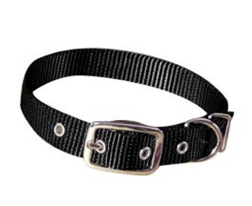 Hamilton 5/8-Inch by 12-Inch Single Thick Nylon Deluxe Dog Collar, Black
