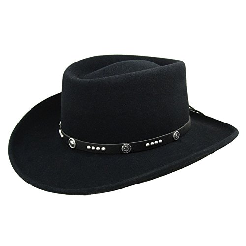 Bailey Western Mens Joker Hat Black Xl