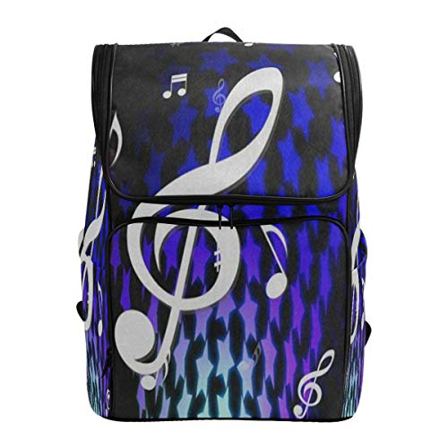 (LoveBea Laptop Backpack Colorful Star Dancing Music NoteCollege Backpack for Women Large Casual Fashion Bag)