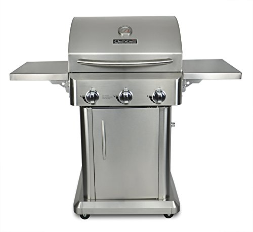 Chef's Grill RT2417S-1 3-Burner 36000-BTU Liquid-Propane Gas Grill, Stainless Steel, 552 sq. in. Review