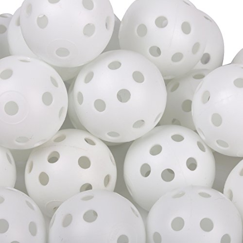 Andux 100 Golf Plastic Practice Balls White KXQ by Andux (Image #1)