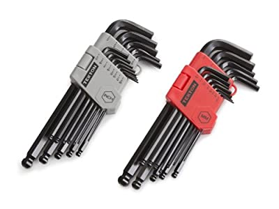 TEKTON 25282 26-pc. Long Arm Ball End Hex Key Wrench Set, Inch/Metric