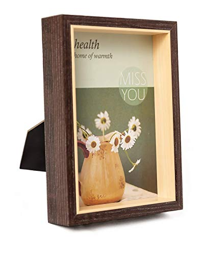Perzest 4x6 Photo Frame|Desktop & Wall Mount| with Real Glass|Wood Picture Frame|Vertical and Horizontal mounts(Dark Brown)