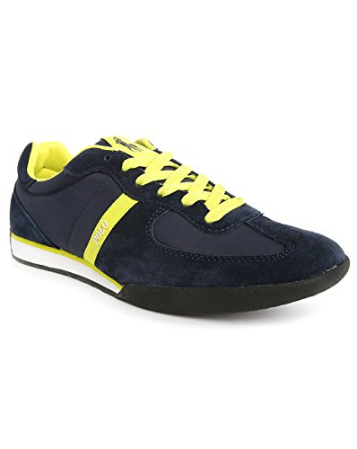 POLO Ralph Lauren - Baskets basses - Homme - Sneakers Jacory Suede Nylon Bleu pour homme