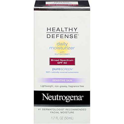 Neutrogena Healthy Defense Daily Moisturizer Broad Spectrum Spf 50 Sunscreen, For Sensitive Skin, 1.7 Fl. Oz. (Pack of 3)