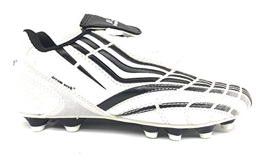 Boys Girls Little Kid/Big Kid 8059 Soccer Outdoor Athletic Lace Up Shoes White/Black 53GBoXE