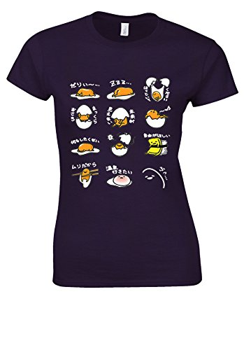 良い風味オンスGudetama JAPANESE Lazy Egg White Women T Shirt Top