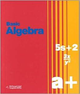 Amazon basic algebra 9780395564806 richard g brown amazon basic algebra 9780395564806 richard g brown geraldine d smith mary p dolciani books fandeluxe Gallery