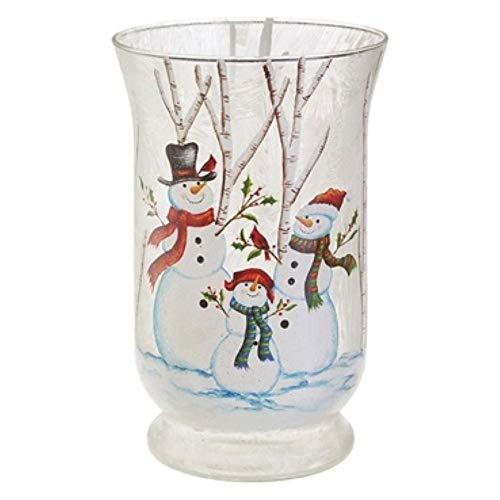 RAZ Snowman Snowmen Family Votive Candle Hurricane Christmas Holder by RAZ Imports