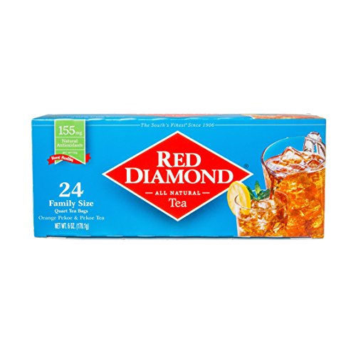 (Red Diamond All Natural Iced Tea Bags Family Quart Size, 24 Count (Pack of 6) (makes 144 Quarts))