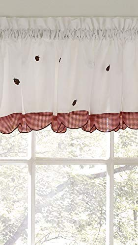 Ben & Jonah Traditional Elegance by Ben&Jonah Lucky Ladybug Embroidered Tailored Valance (56