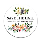 120PCS Save The Date Labels Wedding Stickers Bridal Shower Stickers Save The Date Wedding Stickers Invitation Label Wedding Favor Stickers