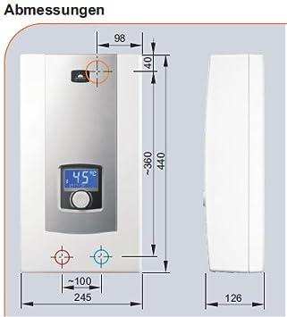 3/phases de chauffage de 400/V imm/édiatement Eau Chaude de bain /électronique 27/kW avec affichage LCD ppe2