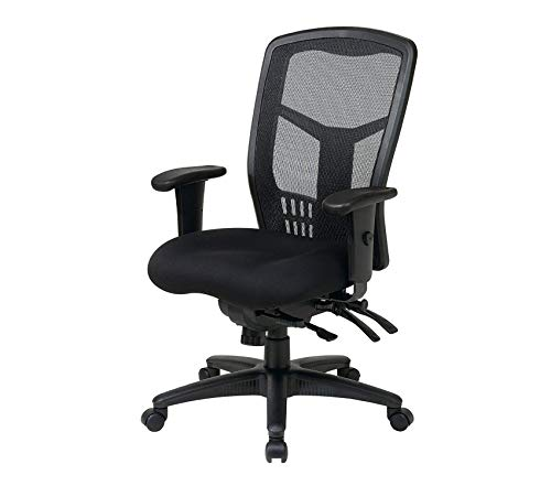 Premium High Back ProGrid Back FreeFlex Seat with Adjustable Arms and Multi-Function and Seat Slider, Black Managers Chair