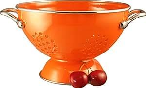 Calypso Basics 1.5 Quart powder coated  Colander, Orange