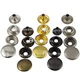 Leather Rivets Set 500 Sets Snap Button Fasteners 15mm 5/8'' Rapid Rivet Leather Craft Metal 4 Color Choice Ws
