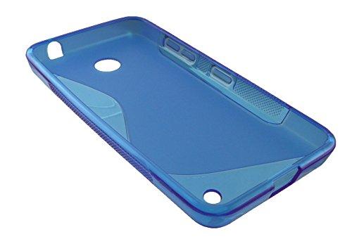 Emartbuy® Nokia Lumia 630 / Lumia 635 Silicona Funda Carcasa Case Cover Rojo Azul Ultrafina a Presión TPU Gel