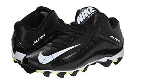 Nike Men's Alpha Shark 2 Three-Quarter Football Cleat Black/Anthracite/White Size 10.5 M US