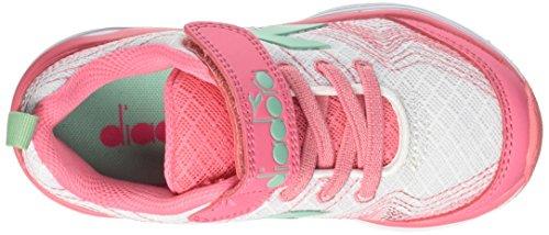 Diadora Flamingo Jr, Zapatillas de Running Para Niños Blanco (Bianco Rosa Lady)