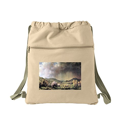 Spring Rain Valley Connecticut (Heade) Canvas Dyed Sack Backpack Bag ()