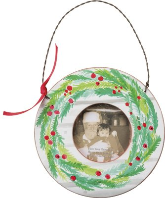 Christmas Wreath Mini Wood Picture Frame - Set Of 2 ()