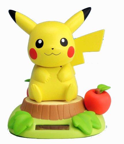 Pikachu Sunshine Buddies (Nohohon Zoku) Solar Bobble-Head Figure (Japanese Imported)